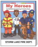 """My Heroes"" Coloring Books (Custom)"